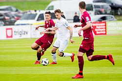 GasperUdovic of NK Triglav Kranj during football match between NK Triglav Kranj and NK Rudar Velenje in Round #27 of Prva Liga Telekom Slovenije 2017/18, on April 15, 2018 in Sports park Kranj, Kranj, Slovenia. Photo by Ziga Zupan / Sportida