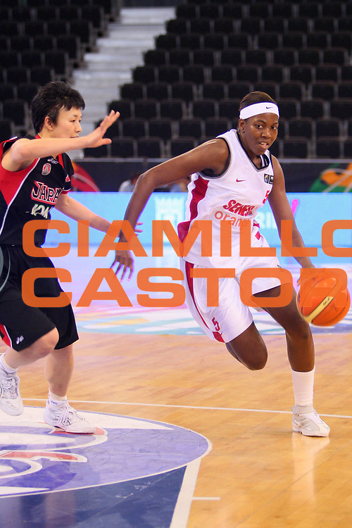 DESCRIZIONE : Madrid 2008 Fiba Olympic Qualifying Tournament For Women Senegal Japan <br /> GIOCATORE : Aya Traore <br /> SQUADRA : Senegal <br /> EVENTO : 2008 Fiba Olympic Qualifying Tournament For Women <br /> GARA : Senegal Japan Giappone <br /> DATA : 10/06/2008 <br /> CATEGORIA : Palleggio <br /> SPORT : Pallacanestro <br /> AUTORE : Agenzia Ciamillo-Castoria/S.Silvestri <br /> Galleria : 2008 Fiba Olympic Qualifying Tournament For Women <br /> Fotonotizia : Madrid 2008 Fiba Olympic Qualifying Tournament For Women Senegal Japan <br /> Predefinita :