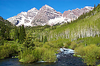 Maroon Bells And West Maroon Creek