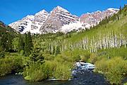 Maroon Bells And West Maroon Creek