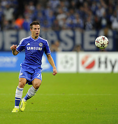 Chelsea's Cesar Azpilicueta - Photo mandatory by-line: Joe Meredith/JMP - Tel: Mobile: 07966 386802 22/10/2013 - SPORT - FOOTBALL - Veltins-Arena - Gelsenkirchen - FC Schalke 04 v Chelsea - CHAMPIONS LEAGUE - GROUP E