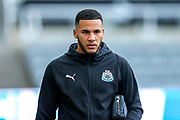 Jamaal Lascelles (#6) of Newcastle United arrives ahead of the Premier League match between Newcastle United and Watford at St. James's Park, Newcastle, England on 3 November 2018.
