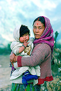 Woman and girl child in rural Nepal.