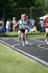 Hamilton, Ontario ---06/06/08--- Tori Town of Wilfrid Laurierin Scarborough competes in the 4X100 meter relay at the 2008 OFSAA Track and Field meet in Hamilton, Ontario..SEAN BURGES