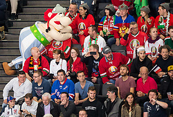 Mascot Obelix during the 2017 IIHF Men's World Championship group B Ice hockey match between National Teams of France and Belarus, on May 12, 2017 in AccorHotels Arena in Paris, France. Photo by Vid Ponikvar / Sportida