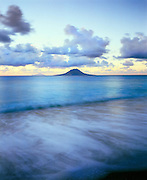 6210-1013 ~ Copyright: George H. H. Huey ~ View north to the island of Statia at dusk from the island of St. Kitts, Lesser Islands, Leeward Antilles, Caribbean.