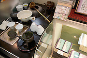 Japanese green tea tasting corner in a department store in Tokyo