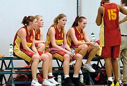 05-04-2006 BASKETBAL: ELITE A DAMES: AUTOCAD AMAZONE - RENES BINNENLAND: UTRECHT<br /> Binnenland wint vrij eenvoudig van Amazone 53-90 / Anouk Breel, Sigrid van der Toorn, Jose Verhulsdonck<br /> ©2006-WWW.FOTOHOOGENDOORN.NL