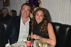 NATASHA CORRETT and her fiance SIMON BATEMAN at The London Cabaret Club Gala Launch Party at The Collection, 264 Brompton Road, London on 8th May 2014.