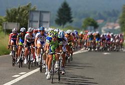 The leader of peloton Maciej Bodnar of Poland (Liquigas) during 1st stage of the 15th Tour de Slovenie from Ljubljana to Postojna (161 km) , on June 11,2008, Slovenia. (Photo by Vid Ponikvar / Sportal Images)/ Sportida)