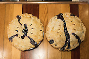 Marionberry and triple berry pie