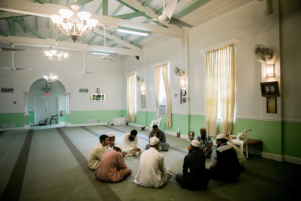 FORT PIERCE, FL - JUNE 13, 2016: A group of worshipers prepares to pray at the Islamic Center of Fort Pierce in Fort Pierce, Florida. CREDIT: Sam Hodgson for The New York Times.