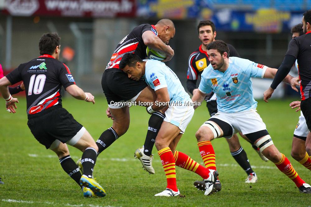 Lifeimi MAFI - 25.01.2015 -  Perpignan / Tarbes - 18eme journee de Pro D2Photo : Luc Fortanier / Icon Sport