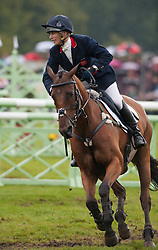 Zara Phillips and High Kingdom, during the final day of the Land Rover Burghley Horse Trials 2012, Stamford, England, September 4, 2011. Photo by Nico Morgan/i-Images.