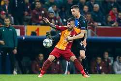 November 26, 2019, Galatasaray, Turkey: Galatasaray's Adem Buyuk and Club's Brandon Mechele fight for the ball during a game between Turkish club Galatasaray and Belgian soccer team Club Brugge, Tuesday 26 November 2019 in Istanbul, Turkey, fifth match in Group A of the UEFA Champions League. (Credit Image: © Bruno Fahy/Belga via ZUMA Press)