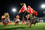 NEW TAIPEI CITY, TAIWAN - NOVEMBER 15:  Traditional Chinese dancers dance Gangnam Style during Game 2 of the 2013 World Baseball Classic Qualifier between Team New Zealand and Team Chinese Taipei at Xinzhuang Stadium in New Taipei City, Taiwan on Thursday, November 15, 2012.  Photo by Yuki Taguchi/WBCI/MLB Photos