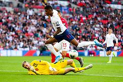 Palmen Iliev of Bulgaria blocks the shot from Marcus Rashford of England - Rogan/JMP - 07/09/2019 - FOOTBALL - Wembley Stadium - London, England - England v Bulgaria - UEFA Euro 2020 Qualifiers.