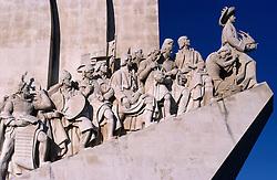 PORTUGAL LISBON-BELEM  MAY99 - The concrete  Monumento dos Descobrimentos, a more recent celebration of ancient Portuguese explorers. jre/Photo by Jiri Rezac....© Jiri Rezac 1999....Tel:   +44 (0) 7050 110 417..Email: info@jirirezac.com..Web:   www.jirirezac.com..