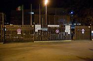 Roma 10 Marzo 2012.Presidio a piazzale Clodio davanti al Tribunale in occasione del processo ai 4 arrestati per la protesta al CIPE. L'ngresso del Tribunale