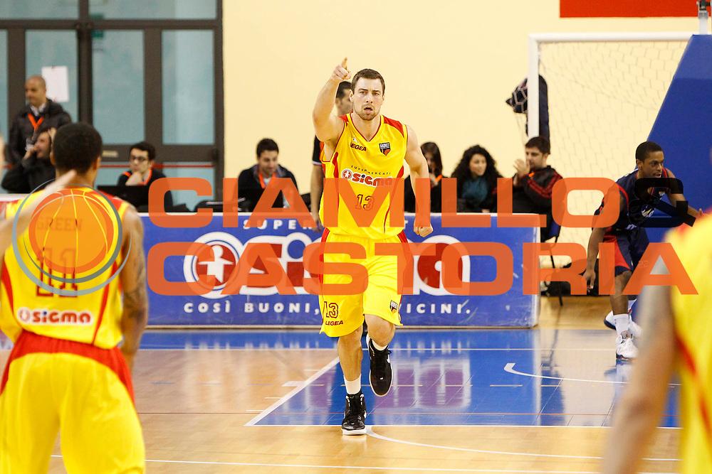 DESCRIZIONE : Cefalu Campionato Lega Basket A2 2012-13 Sigma Basket Barcellona Vs Novipiu Casale Monferrato<br /> GIOCATORE : Craig Callahan<br /> SQUADRA : Sigma Basket Barcellona<br /> EVENTO : Campionato Lega Basket A2 2012-2013<br /> GARA : Sigma Basket Barcellona Vs Novipiu Casale Monferrato<br /> DATA : 03/03/2013<br /> CATEGORIA : Esultanza<br /> SPORT : Pallacanestro <br /> AUTORE : Agenzia Ciamillo-Castoria/G.Pappalardo<br /> Galleria : Lega Basket A2 2012-2013 <br /> Fotonotizia : Cefalu Campionato Lega Basket A2 2012-13 Sigma Basket Barcellona Vs Novipiu Casale Monferrato<br /> Predefinita :