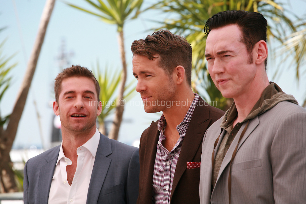 Scott Speedman, Ryan Reynolds and Kevin Durand at the photocall for the film Captives at the 67th Cannes Film Festival, Friday 16th May 2014, Cannes, France.