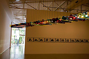 Brumadinho_MG, Brasil...Museu de Arte Contemporanea de Inhotim (CACI). Na Foto a obra Atraves de Cildo Meireles. Na foto a obra Montreuse de Tobias Rehnberger...Inhotim Contemporary Art Museum (CACI). In this photo the art Atraves of Cildo Meireles. In this photo the art Montreuse of Tobias Rehnberger...Foto: JOAO MARCOS ROSA / NITRO