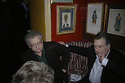 Jeremy Thomas and Stephen Frears,  Charles Finch and Chanel 7th Anniversary Pre-Bafta party to celebratew A Great Year of Film and Fashiont at Annabel's. Berkeley Sq. London W1. 10 February 2007. -DO NOT ARCHIVE-© Copyright Photograph by Dafydd Jones. 248 Clapham Rd. London SW9 0PZ. Tel 0207 820 0771. www.dafjones.com.