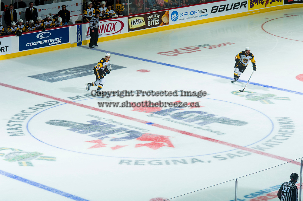 REGINA, SK - MAY 25: Centre Ice at the Brandt Centre on May 25, 2018 in Regina, Canada. (Photo by Marissa Baecker/CHL Images)