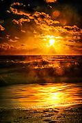 Long exposure of Sunrise along Boca Raton Beach