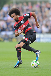 Queen Park Rangers' Benoit Assou-Ekotto in action during the game.- Photo mandatory by-line: Alex James/JMP - Tel: Mobile: 07966 386802 21/09/2013 - SPORT - FOOTBALL - Huish Park - Yeovil - Yeovil Town V Queens Park Rangers - Sky Bet Championship