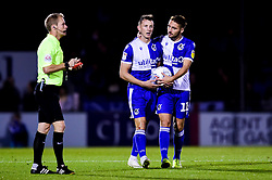 Ollie Clarke of Bristol Rovers after Corey Blackett-Taylor of Tranmere Rovers receives a red card - Mandatory by-line: Ryan Hiscott/JMP - 20/08/2019 - FOOTBALL - Memorial Stadium - Bristol, England - Bristol Rovers v Tranmere Rovers - Sky Bet League One