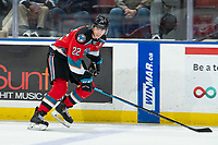 KELOWNA, BC - OCTOBER 16: Dillon Hamaliuk #22 of the Kelowna Rockets skates against the Swift Current Broncos  at Prospera Place on October 16, 2019 in Kelowna, Canada. Hamaliuk was selected by the San Jose Sharks in the 2019 NHL entry draft. (Photo by Marissa Baecker/Shoot the Breeze)