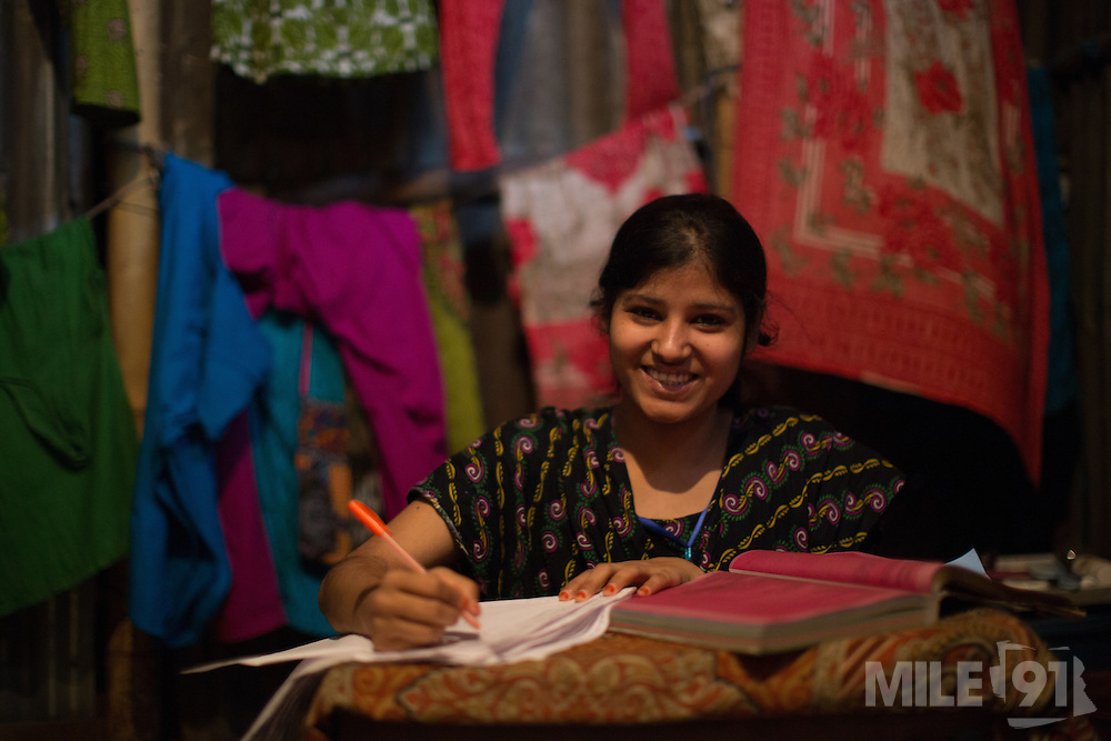 Roxana is a garment worker in Dhaka, Bangladesh. Here she is studying to become a nurse.<br /> <br /> Roxana is just one of hundreds of workers who are using the LaborVoices SmartLine to share feedback on their safety and working conditions, quickly and anonymously.<br /> <br /> The SmartLine provides brands and suppliers real-time visibility into factory conditions, enabling them to identify and solve problems before they become urgent.