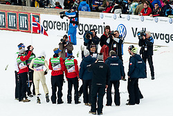 Farewell of Mika KOJONKOSKI, coach of Norway, during Flying Hill Team Final Round at 3rd day of FIS Ski Jumping World Cup Finals Planica 2011, on March 19, 2011, Planica, Slovenia. (Photo By Matic Klansek Velej / Sportida.com)