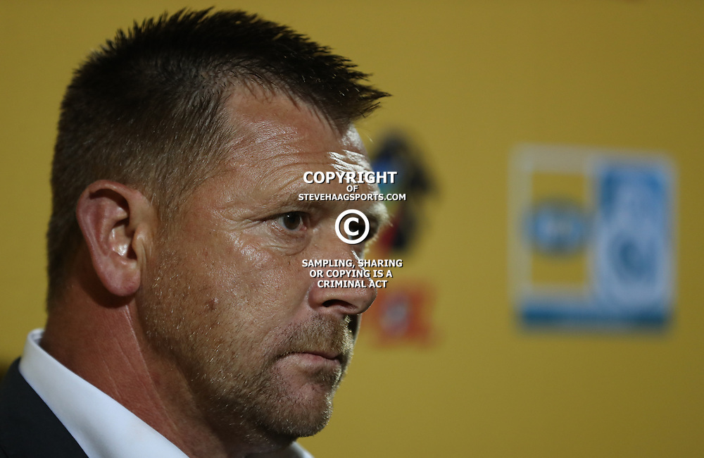 Eric Tinkler (Head Coach) of SuperSport United during the MTN8 semi-final 2nd-leg match between Maritzburg United and SuperSport United,Harry Gwala Stadium in  Pietermaritzburg. 9th September -2017 (Photo by Steve Haag Maritzburg United)