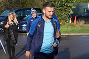AFC Wimbledon defender Luke O'Neill (2) and AFC Wimbledon coach Vaughan Ryan arriving for the game during the EFL Sky Bet League 1 match between AFC Wimbledon and Doncaster Rovers at the Cherry Red Records Stadium, Kingston, England on 14 December 2019.