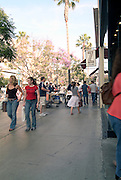 Santa Monica, CA, Third Street Promenade,  outdoor shopping, mall, City by the Bay, tourists, Shoppers High dynamic range imaging (HDRI or HDR)