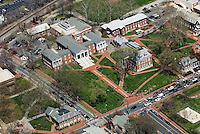 Aerial views of the University of Delaware  and Blue Hen Stadium and Bob Carpenter Center, Newark, Delaware