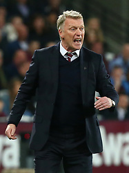 April 16, 2018 - London, England, United Kingdom - West Ham United manager David Moyes .during English Premier League match between West Ham United and Stoke City at London stadium, London, England on 16 April 2018. (Credit Image: © Kieran Galvin/NurPhoto via ZUMA Press)