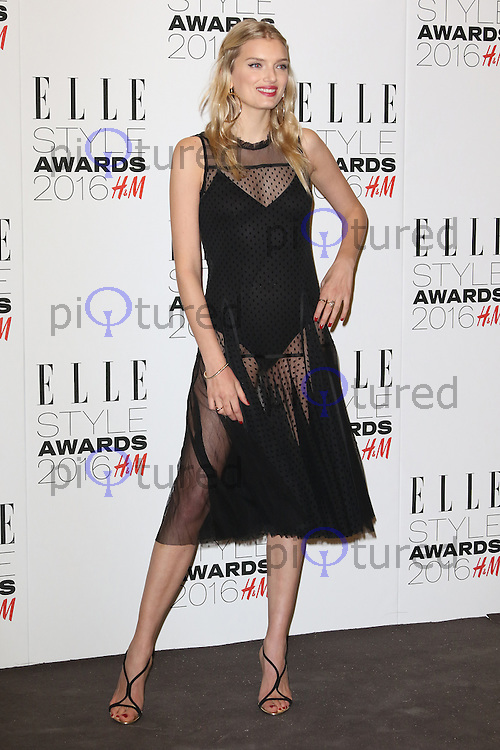 Lily Donaldson, ELLE Style Awards 2016, Millbank London UK, 23 February 2016, Photo by Richard Goldschmidt