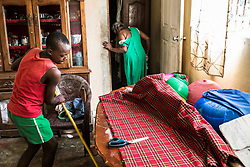 Jejiga Elil sweeps the floor in the house where he lives and work. In exchange for food, shelter and promised schooling he works from early mornings until late night. Everyday of the week.