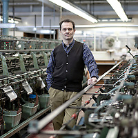 John Smedley Ltd, Matlock - portraits of Ian MacLean CEO - For RBS Magazine