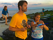 Ocean fishing, Cape May, youth learns to fish