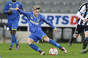 Nathan Wood of AFC Wimbledon during the FA Youth Cup match between Newcastle United and AFC Wimbledon at St. James's Park, Newcastle, England on 6 January 2016. Photo by Stuart Butcher.