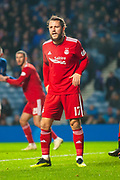 Stevie May (#17) of Aberdeen FC during the Ladbrokes Scottish Premiership match between Rangers and Aberdeen at Ibrox, Glasgow, Scotland on 5 December 2018.
