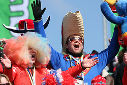 Superman at Flying Hill Team in 3rd day of 32nd World Cup Competition of FIS World Cup Ski Jumping Final in Planica, Slovenia, on March 21, 2009. (Photo by Vid Ponikvar / Sportida)