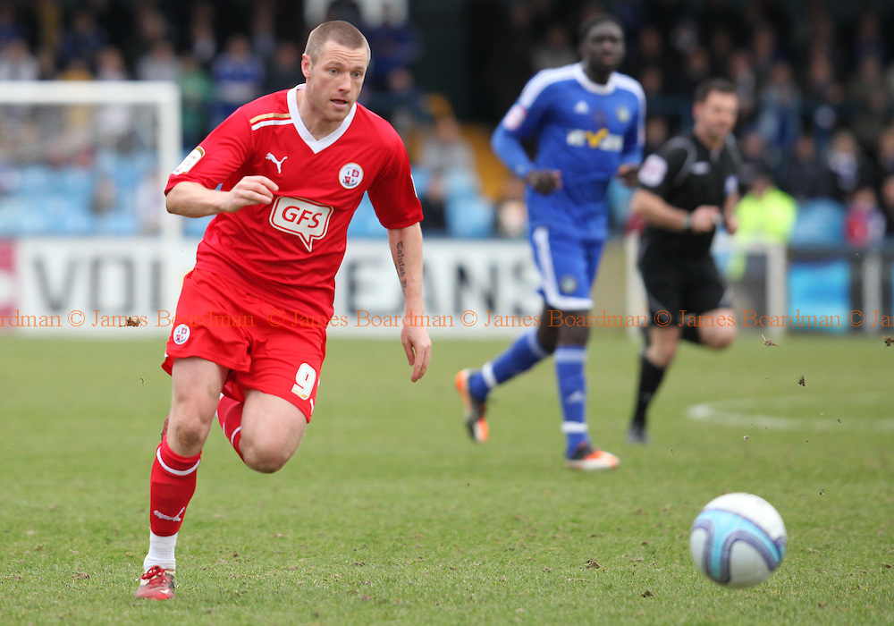 JAMES BOARDMAN / 07967642437.Crawley's Gary Alexander seen during the NPower Division Two match between Macclesfield Town and Crawley Town at the Moss Rose in Macclesfield. March 9, 2012.