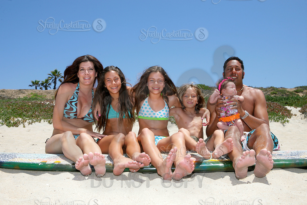 10 July 2011:  Rabin, Carie, Kiana, Mika, Kai and Jordi Rajkumar family photo session in Huntington Beach.  Family portraits, home and at the beach.