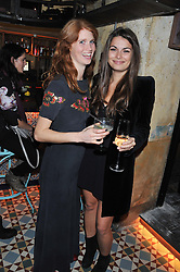 Left to right, LARA HUGHES-YOUNG and JENNIFER MEDHURST at the launch party for the new nightclub Tonteria, 7-12 Sloane Square, London on 25th October 2012.