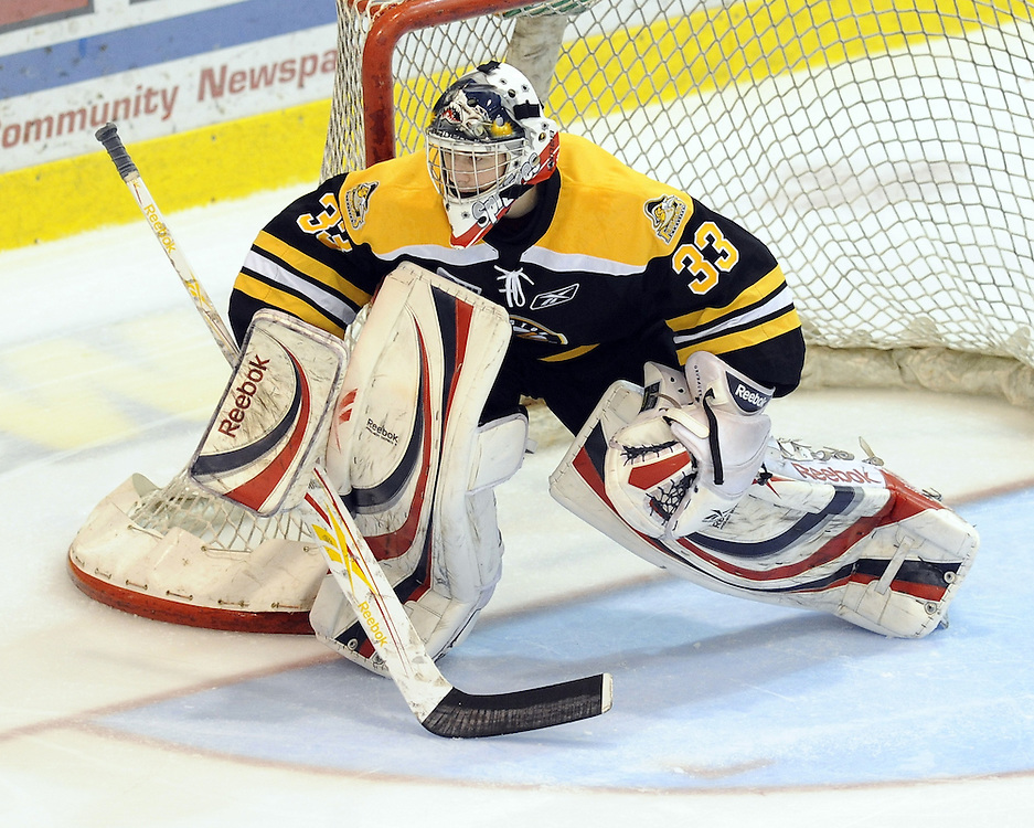 Philipp Grubauer of the Kingston Frontenacs. Photo by Aaron Bell/OHL Images